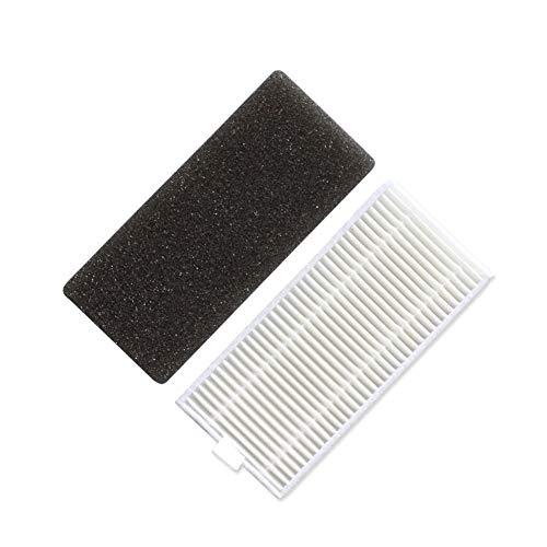 QUJJP Accesorios para aspiradoras 5 Sets Filtro Sponge 5pcs MOPS Kit de reemplazo compátil con IKOHS NetBot S15 SmartGo Piezas de Repuesto de aspiradora robótica Filtros