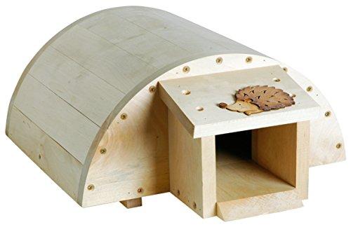 Luxus-Insektenhotels Casa de Erizo Meckine para Insectos de Lujo 22217e, de Madera de Haya Maciza, con Aislamiento Interior y Gran Apertura de Puerta (casa de Dormir de pie, pienso para erizos)
