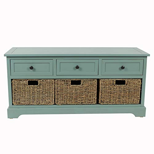 Dcor Therapy Montgomery Bench, Antique Iced Blue