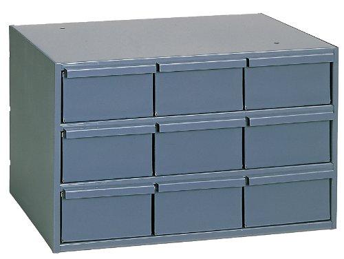 Durham 004-95 Gray Cold Rolled Steel Vertical Storage Cabinet, 17-1/4 Width x 10-7/8 Height x 11-5/8 Depth, 9 Drawer by Durham