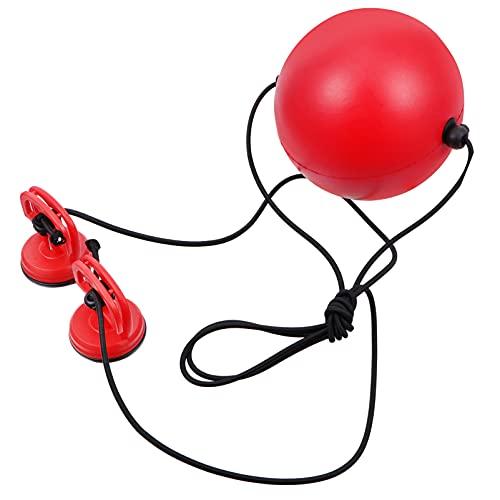 Wakauto Bola de boxe para boxe com bola de reflexo, bola de boxe e trem, bola de luta para homens e mulheres, boxe MMA, fitness, perfuração, precisão, timing, bola de 150 mm