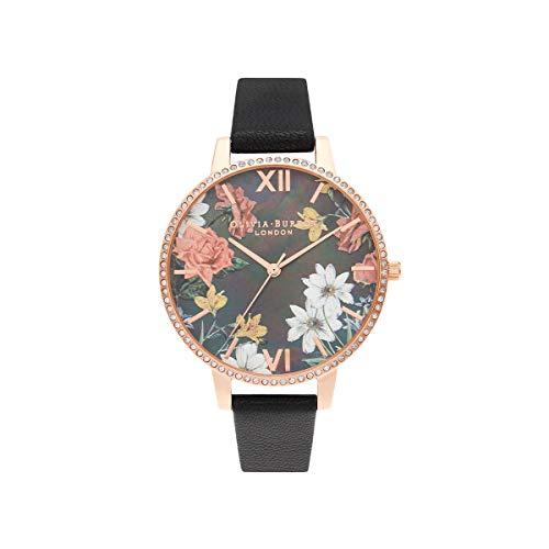 Olivia Burton Damen Analog Quarz Uhr mit Leder Armband OB16BF31