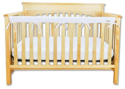 """Trend Lab Waterproof CribWrap Rail Cover - for Narrow Long Crib Rails Made to Fit Rails up to 8"""" Around"""