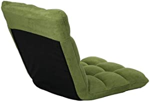 L-Shaped Bean Bag Chair Allover Baffle-Box Stitching Child Proof Zipper Closure Refillable Foam Filling - All Seasons Comfy Cozy Soft Plush Home Decor - Light Green Small Bean Bag Chair & Lounger