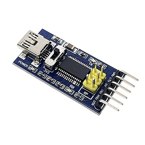 FT232RL FT232 FTDI 3.3V 5.5V Convertidor de serie Módulo de adaptador Mini puerto para Arduino Pro Mini USB a TTL 232-Blue
