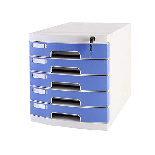 KANJJ-YU Escritorio de almacenamiento Expander, multi-capas de escritorio cajón clasificador con cajón oficina del gabinete de almacenamiento portátil Suministros y ordenado Periódico Bastidores (azul