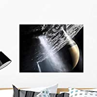 Wallmonkeys Geysers Enceladus Showing Cryovolcanism Wall Mural by Peel and Stick Graphic (24 in W x 18 in H) WM94906 [並行輸入品]