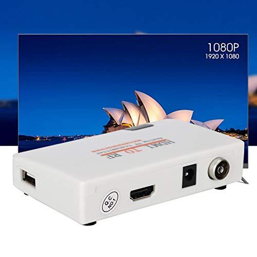 Niiyen Adaptador convertidor de HDMI a RF, Adaptador coaxial de modulador de RF HDMI Soporte de Caja de convertidor de señal 480I-1080P, Convertidor de Salida coaxial de Entrada(ME)