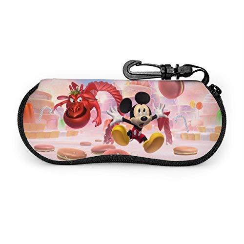HHJJI Anime M-i-ck-e-y Funda para gafas de ratón, gafas de sol con cremallera de viaje portátil Funda de gafas Conjunto de protector de gafas