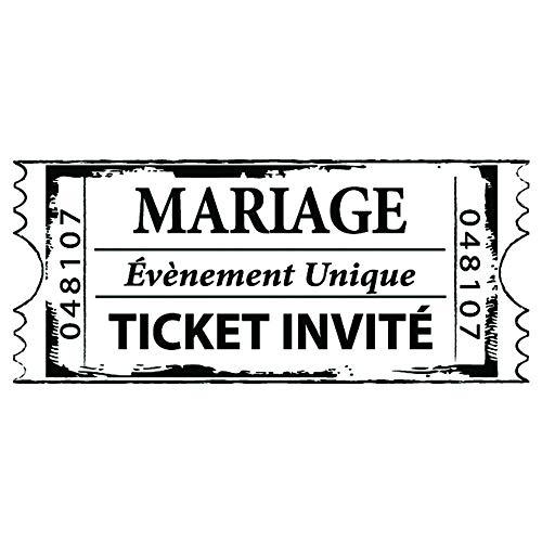 Aladine 01507 Stempel C Ticket Hochzeit