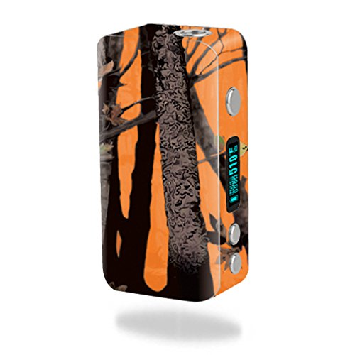 MightySkins Skin Compatible with Smok Koopor Plus 200W – Orange Camo   Protective, Durable, and Unique Vinyl Decal wrap Cover   Easy to Apply, Remove, and Change Styles   Made in The USA