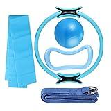 Kit de arranque de yoga kit de bola de yoga anillo de la banda de la banda fitness Equipos de fitness 5pcs azul buena calidad