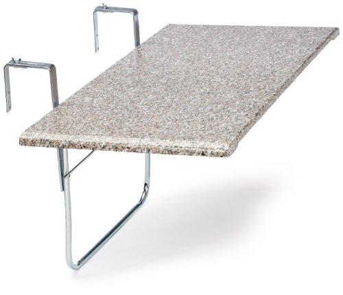 Videx 16402 Balkonklapptisch Terrazo Design 51x102cm rechteckig, marmoriert