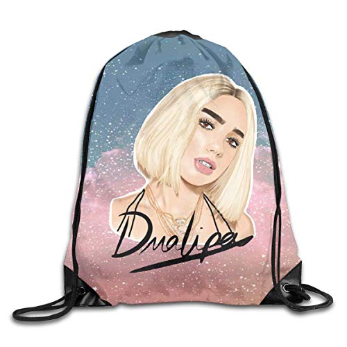 YuYfashions Men Women Brave Dua New Love Lipa Gym Drawstring Drawstring Backpacks Shoulder Bags Sport Sack Backpack for Home Travel Exercise Beam mouth package A3746