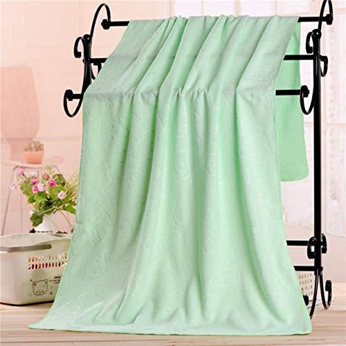 CTOBB - Toalla de baño de microfibra absorbente, suave, de secado rápido, 70 x 140 cm, color verde, 70 x 140 cm