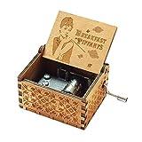 Evelure Carillon Audrey Hepburn, scatole Musicali a manovella in Legno Intagliato Antico p...