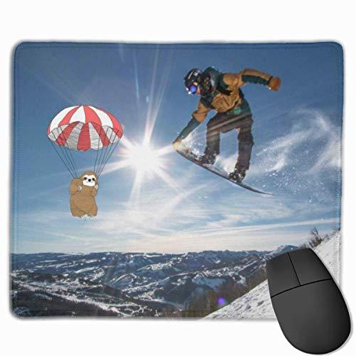 Rechteckiges rutschfestes Gaming-Mauspad für das Snowboard-Springen Tastatur-Gummi-Mauspad für Heim- und Büro-Laptops