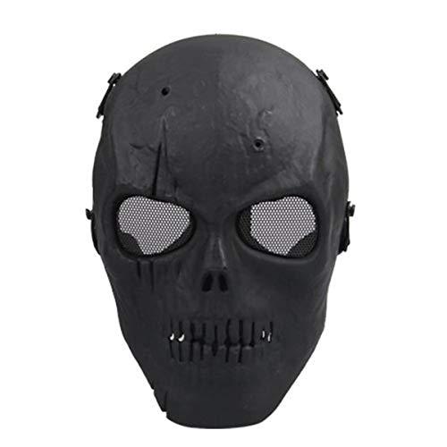 BESTOYARD Máscara Airsoft de caveira, proteção total, militar (preta)