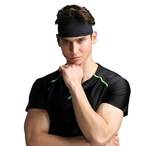 TININNA Bandeau de Sport Anti Transpiration élastique Bande de Cheveux Headband Hairband Headwear pour Yoga Running Fitness Femmes Hommes