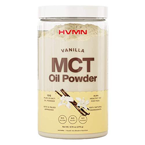 H.V.M.N. MCT Oil Powder - Keto Creamer Powder, for Keto Coffee Creamer, Keto Shake - Pure C8 MCT Oil from Acacia Fiber Powder, MCT Oil Keto Diet Powder - 25 Servings (Vanilla)