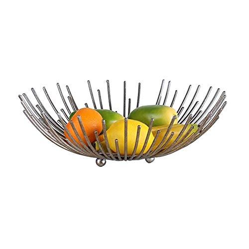 TIDLT Panier De Fruits Créatif, Bol À Fruits en Métal, Décoration De Table À Manger Et De Cuisine (Couleur : Large-40 * 13cm)