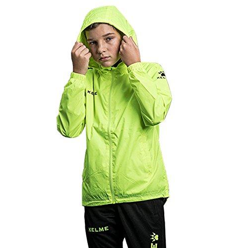 KELME Kid Windproof Jacket Chubasquero, Niños, Neon Green, 130