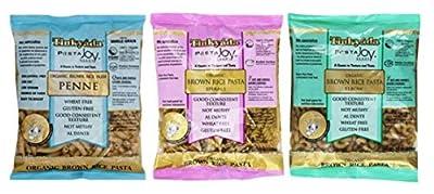 Tinkyada Organic Gluten-Free Brown Rice Pasta 3 Shape Variety Bundle, Elbow, Spirals, Penne Pasta