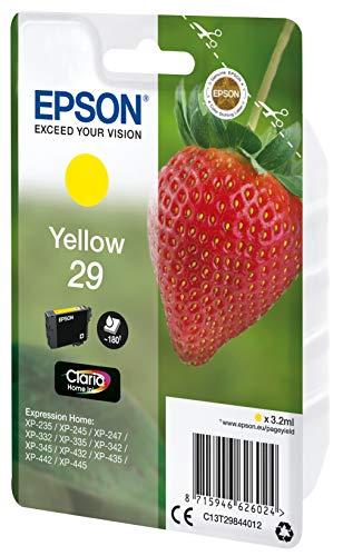 Epson Claria Home 29 - Cartucho de tinta estándar de 3,2 ml, paquete estándar, color amarillo válido para los modelos Expression Home XP-235, XP-442 y otros