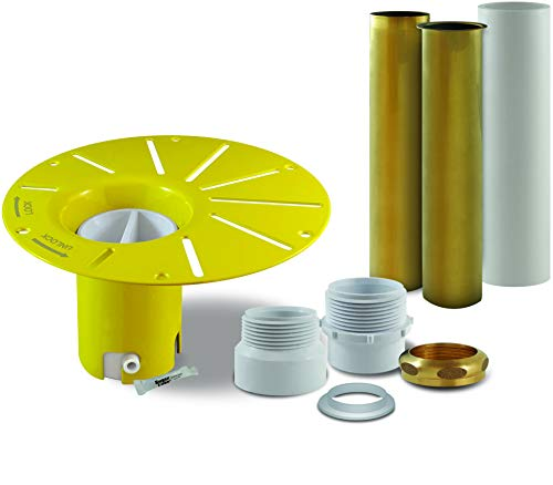 DROP-IN DRAIN Installation Kit for Freestanding Bathtub - with White PVC Pipe