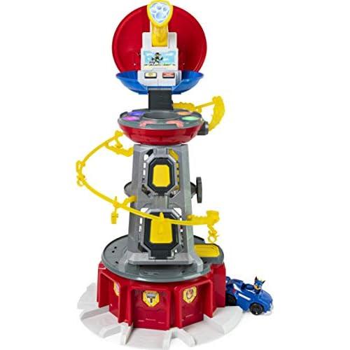 PAW PATROL Set di Gioco e Torre di Controllo Mighty Pups Super PAWs, con Luci ed Effetti Sonori, per Bambini dai 3 Anni in Su