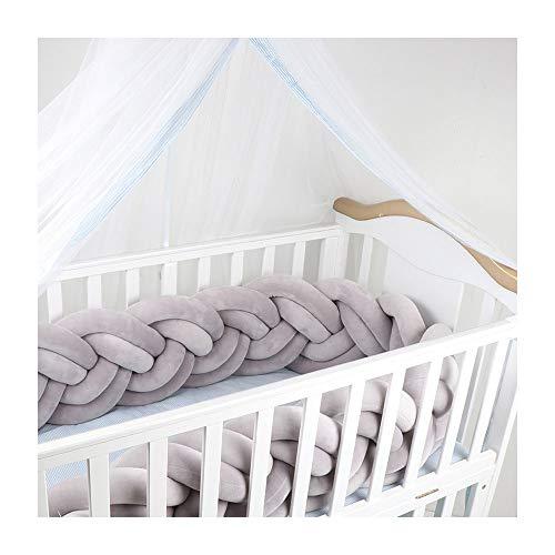 TAYNBYLN 6 Strands Protectores para Cunas Camas De Bebé,Cuna Trenzada Parachoques,Soporte De Parachoques Alrededor De Protección Bed Sleep Rails,D,3M