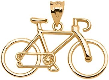 Sports Charms Bicycle Bike Pendant in 10k Yellow Gold product image