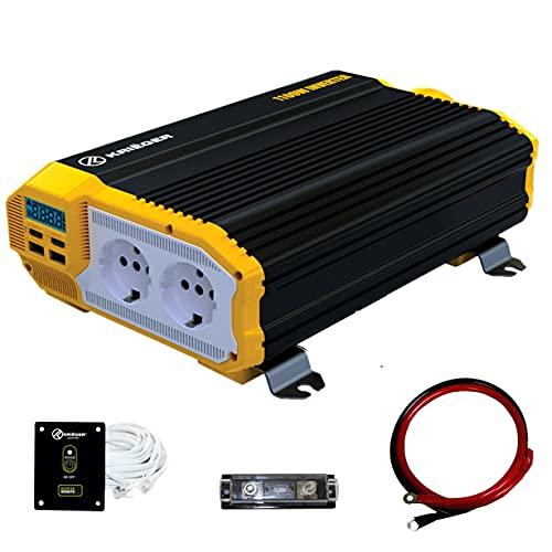 K KRIËGER 1100 Watts Power Inverter 12V to 230V, Modified...