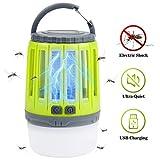 IREGRO Lámpara Mosquitos UV Mata Mosquitos Electrico Mosquitos Killer para Mosquitos 2 en 1 Mosquito Killer Lamp Batería Recargable Lámpara Camping Versátil Pórtatil para Patios,Jardin,Exterior