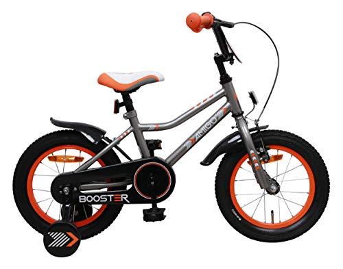 Amigo Booster - Bicicleta infantil para niño, 16 pulgadas, con freno de...