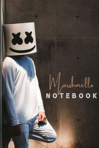 Marshmello Notebook Gift /Journal Great for Birthday or Christmas Gift: Perfect for taking notes , Sketching Soft Matte Cover and 110 Premium Paper/Pages, 6
