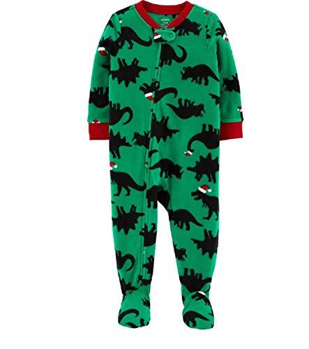 Carter's Baby Boy's 1-Piece Holiday Dinosaur Fleece Footie PJs