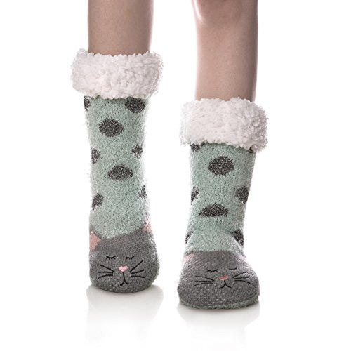 cozy cat slipper socks gift idea