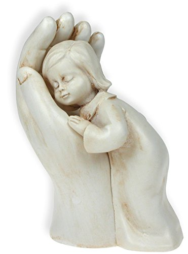 Figur - Hand mit Kind 10cm (creme)