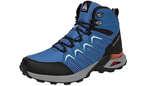 Mishansha Zapatillas Senderismo Hombre Trail Mount Botas Montaña Zapatos Trekking Escalada Deportes de Exterior, Lapislázuli Azul 45 EU