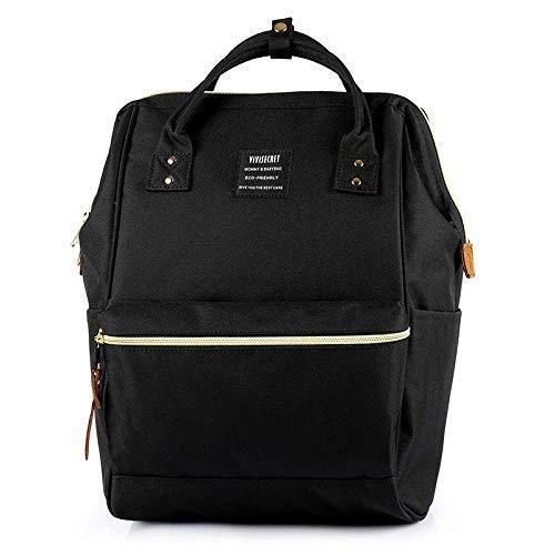 SSYM Schulterrucksack, Freizeit-Rucksack, Einbruchsicherer Rucksack, Lady Rucksack, Student Handtasche Large Black Size XXL