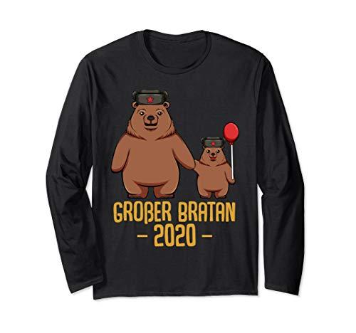 Großer Bratan 2020 - Russischer Bär Bären Bruder Geschwister Langarmshirt