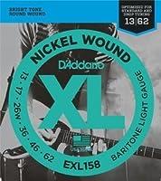D'Addario EXL158 バリトンギター Baritone Light (13-62) ダダリオ エレキギター弦 ニッケル EXL-158【国内正規品】