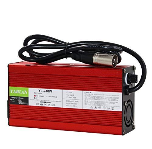 Cargador inteligente de 67,2 V, 3 A, batería de iones de litio de 60 V, para 16S 60 V, batería de iones de litio de entrada 90 – 230 V Certificación global