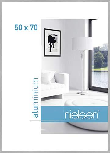 Nielsen Aluminium Bilderrahmen C2, 50x70 cm, Struktur Silber Matt