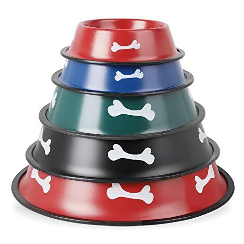 TUOF Leuke Bone Print Huisdieren Kom Voedsel Water Voeding Plaat Draagbare RVS Bowl Schaal Voor Honden Kat Water Feeder Gerechten