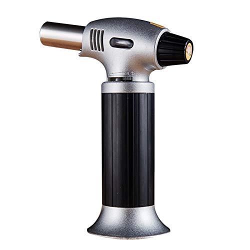 Gu3Je Multifunción Portátil Soldadura Gas Torch Senderismo Camp Fire Starter Maker Auto Ignition Weld Llame Kit para Bricolaje Creme Brulee, Pasteles, Camping (Color : Black)