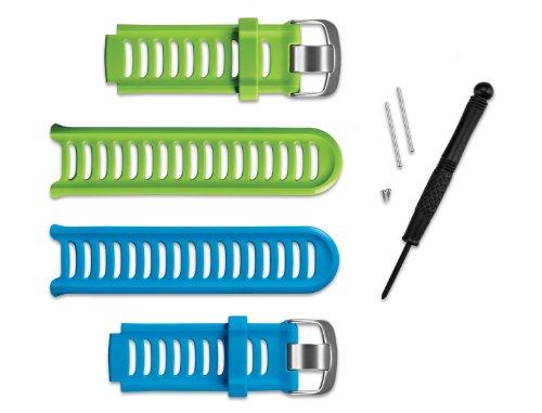 Garmin - Kit de Correas Color azúl y Verde Compatible con Modelo 910XT