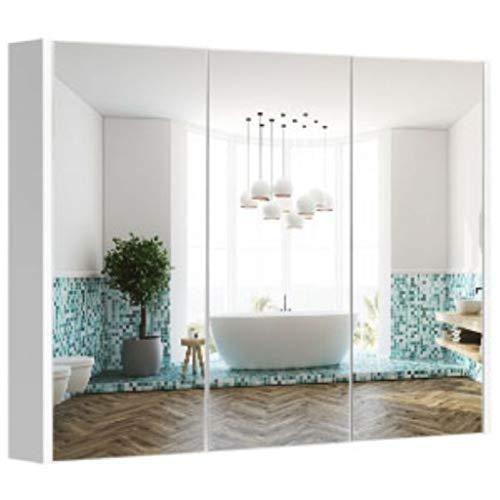 Lorixon Bathroom Mirror Cabinets,LMC-36X25 in, Triple Mirror Door,Cabinet Adjustable Shelf