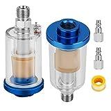 Filtro separador de aceite de agua del compresor de aire, pistola de pintura rociador separador de agua de aceite, entrada y salida NPT de 1/4 pulgadas.
